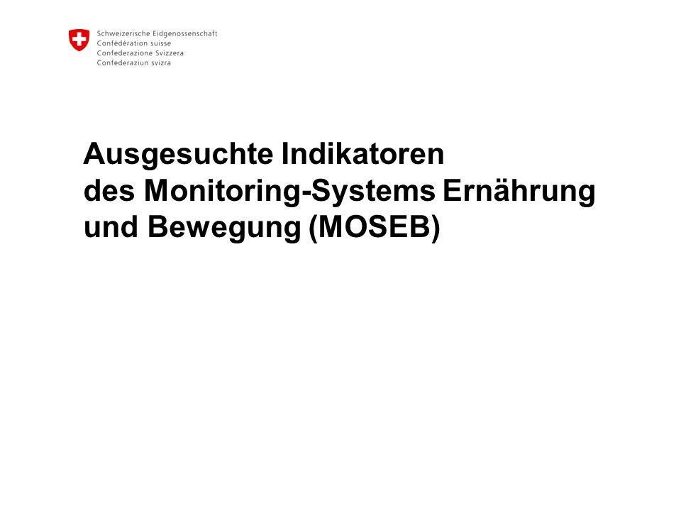 Ausgesuchte Indikatoren des Monitoring-Systems Ernährung und Bewegung (MOSEB)