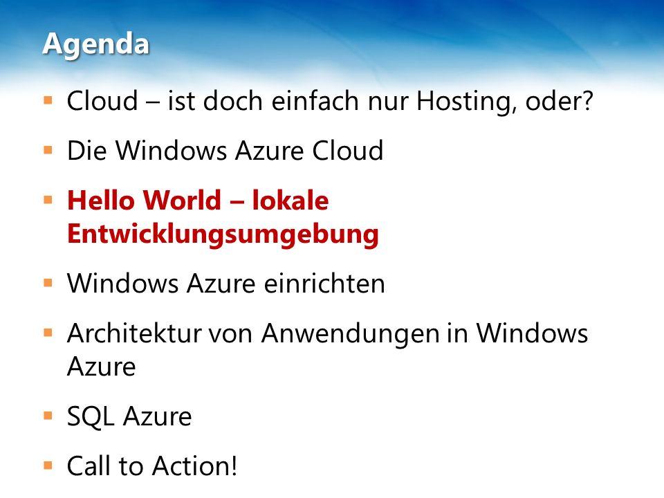Agenda  Cloud – ist doch einfach nur Hosting, oder.