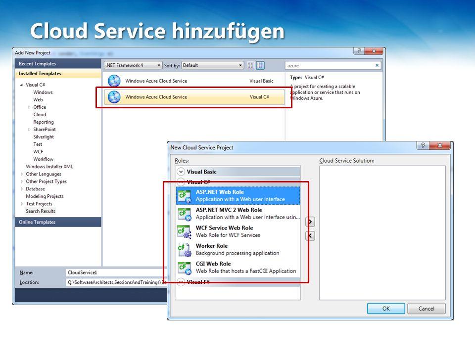 Cloud Service hinzufügen