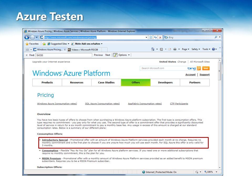 Azure Testen