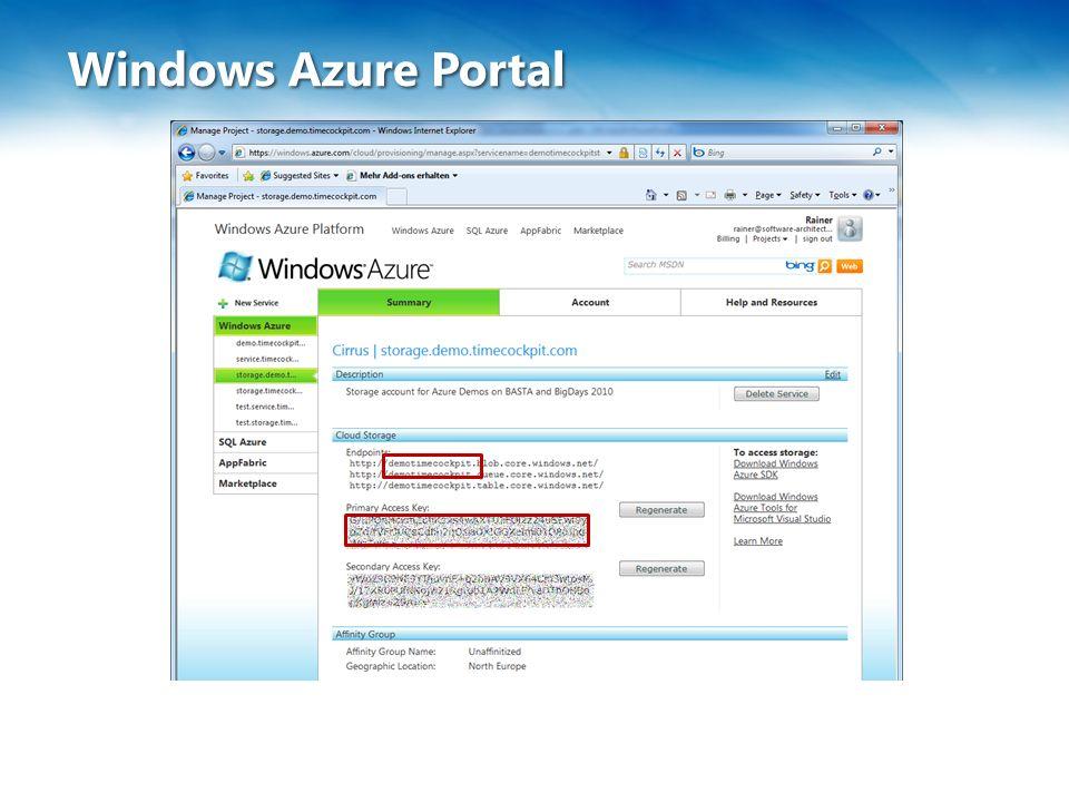 Windows Azure Portal