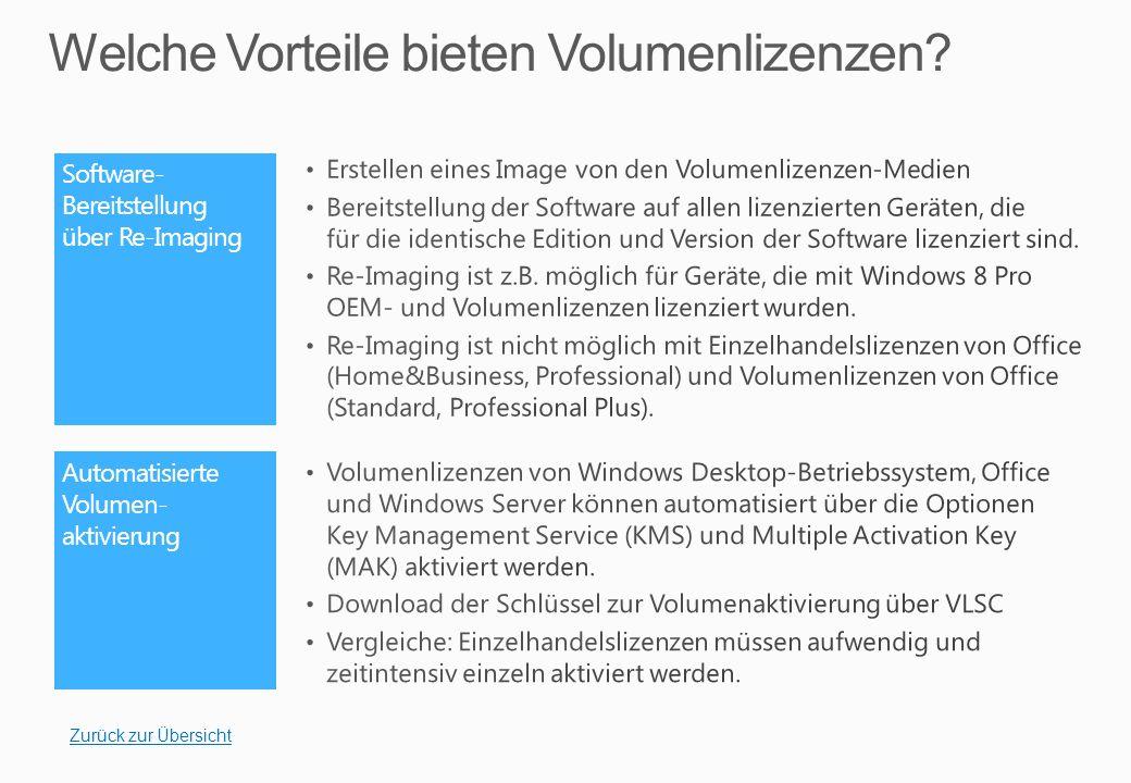 Kundenportal Volume Licensing Service Center (VLSC)