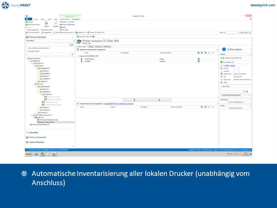 Sp-center-006 Automatische Inventarisierung aller lokalen Drucker (unabhängig vom Anschluss)