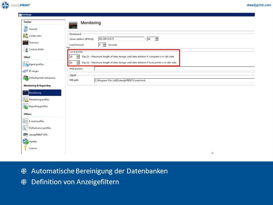Sp-center-008 Automatische Bereinigung der Datenbanken Definition von Anzeigefiltern *Pdf