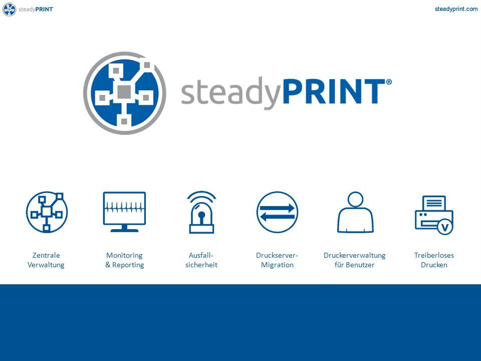 Zentrale Verwaltung Monitoring & Reporting Ausfall- sicherheit Druckserver- Migration Druckerverwaltung für Benutzer Treiberloses Drucken