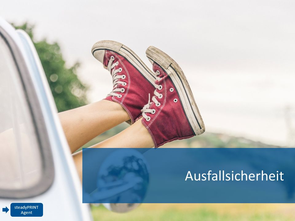 Ausfallsicherheit steadyPRINT Agent