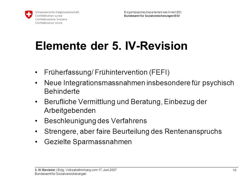 10 5. IV-Revision | Eidg. Volksabstimmung vom 17.