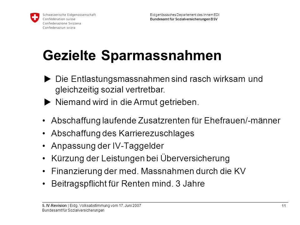 11 5. IV-Revision | Eidg. Volksabstimmung vom 17.