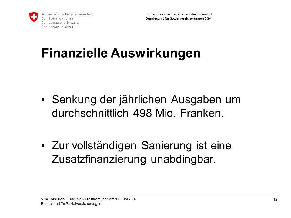 12 5. IV-Revision | Eidg. Volksabstimmung vom 17.