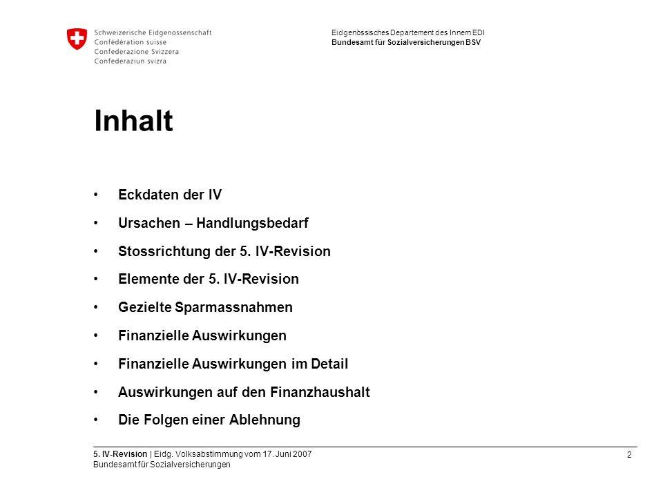 2 5. IV-Revision | Eidg. Volksabstimmung vom 17.