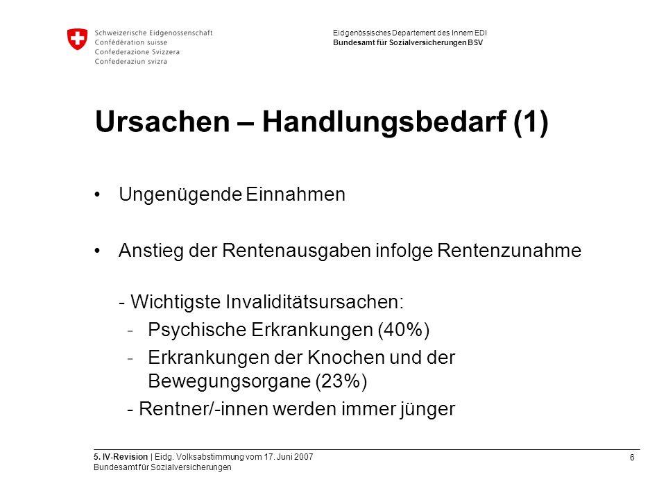 6 5. IV-Revision | Eidg. Volksabstimmung vom 17.