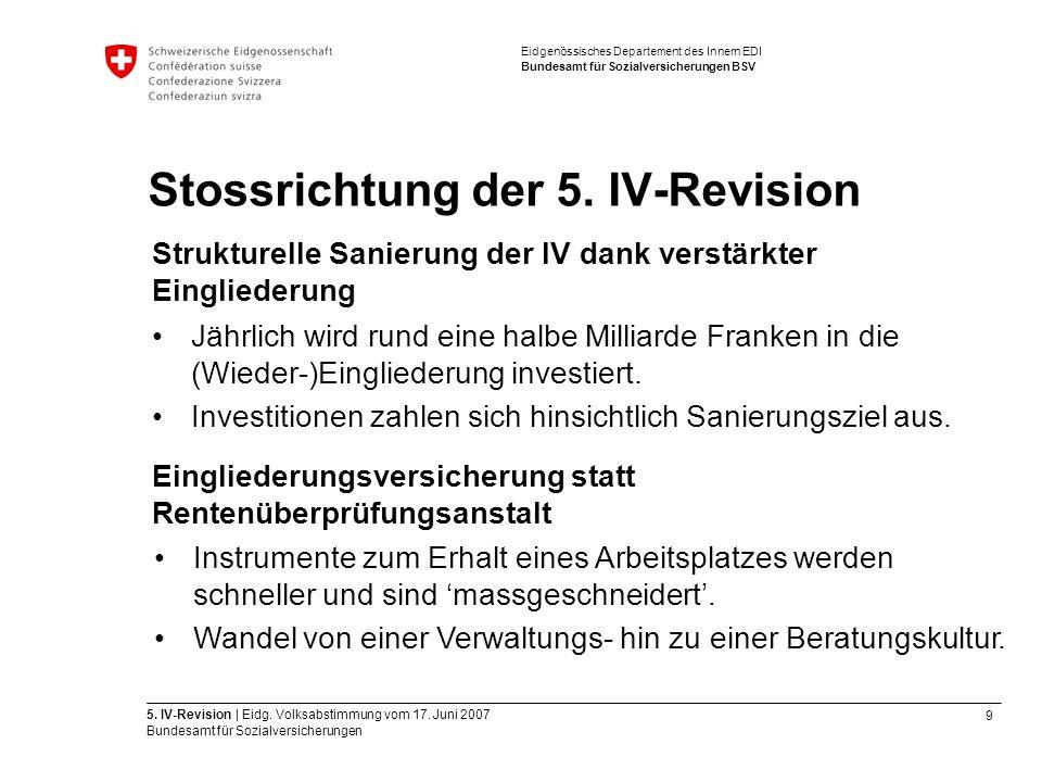 9 5. IV-Revision | Eidg. Volksabstimmung vom 17.