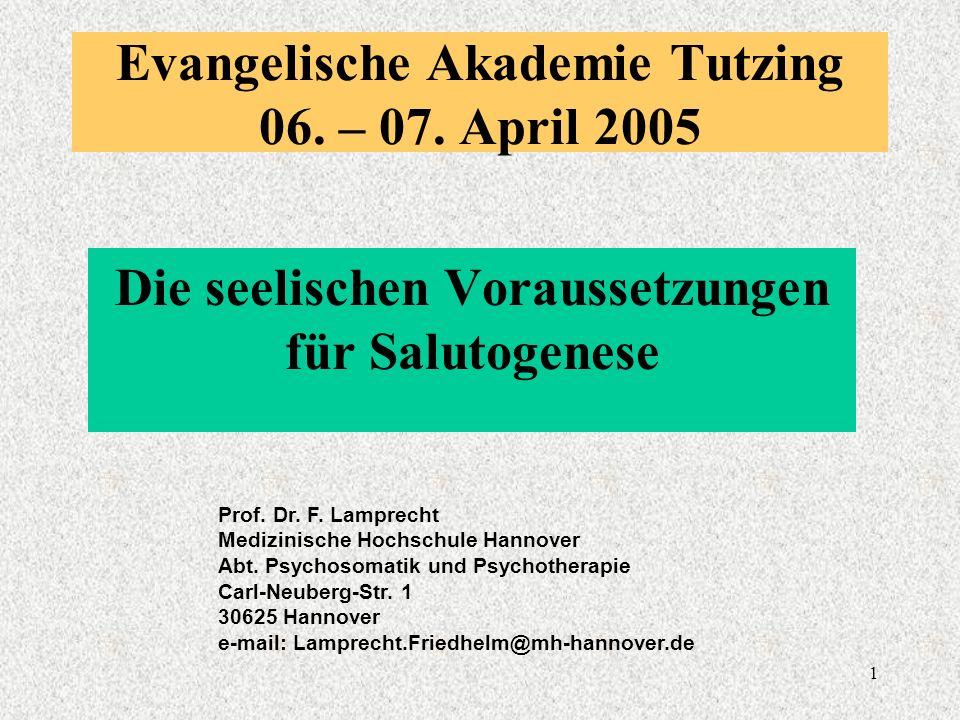 1 Evangelische Akademie Tutzing 06. – 07.