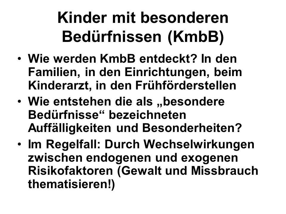 Kinder mit besonderen Bedürfnissen (KmbB) Wie werden KmbB entdeckt.