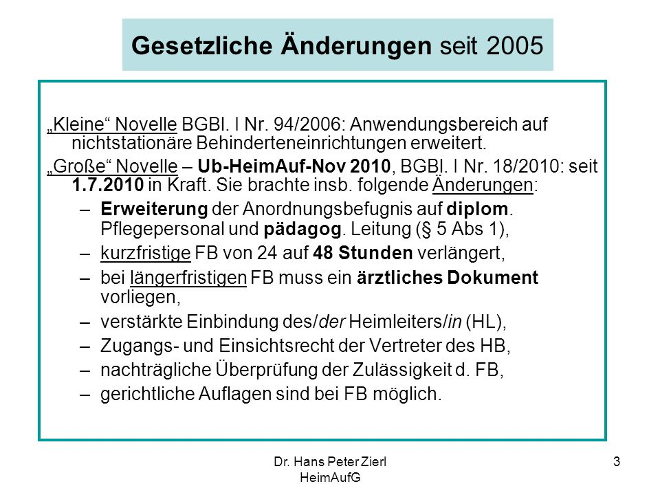 Dr.Hans Peter Zierl HeimAufG 4 -Vereinbarung der Honorierung ärztl.