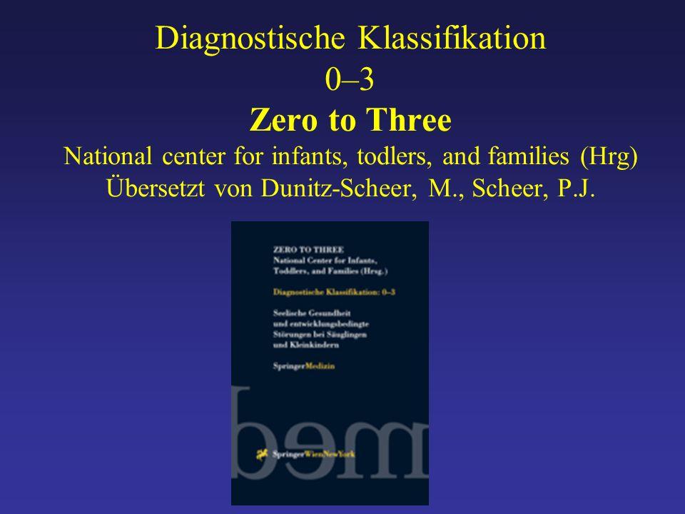 Diagnostische Klassifikation 0–3 Zero to Three National center for infants, todlers, and families (Hrg) Übersetzt von Dunitz-Scheer, M., Scheer, P.J.