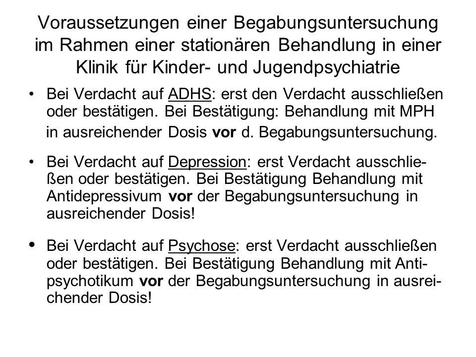 Die wichtigsten Verfahren zur Begabungsdiagnostik (1) Hamburg-Wechsler-Intelligenz-Test für Kinder (HAWIK-IV) für Altersgruppe 6;0 J.