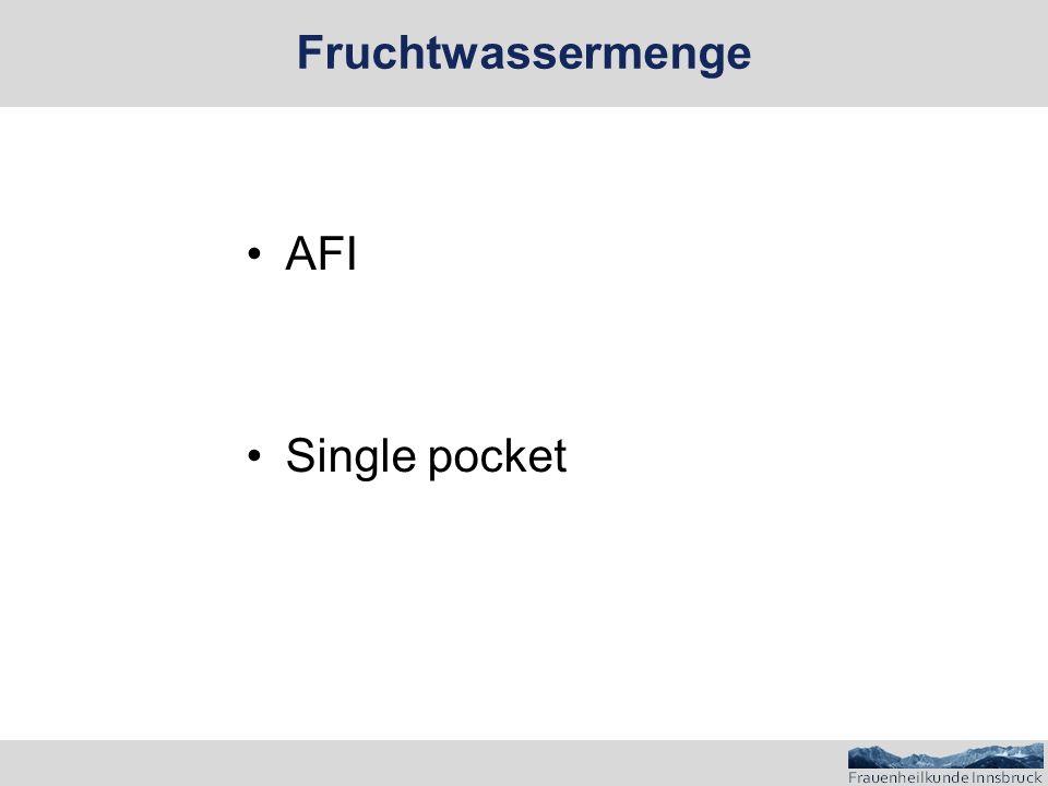 AFI Single pocket Fruchtwassermenge