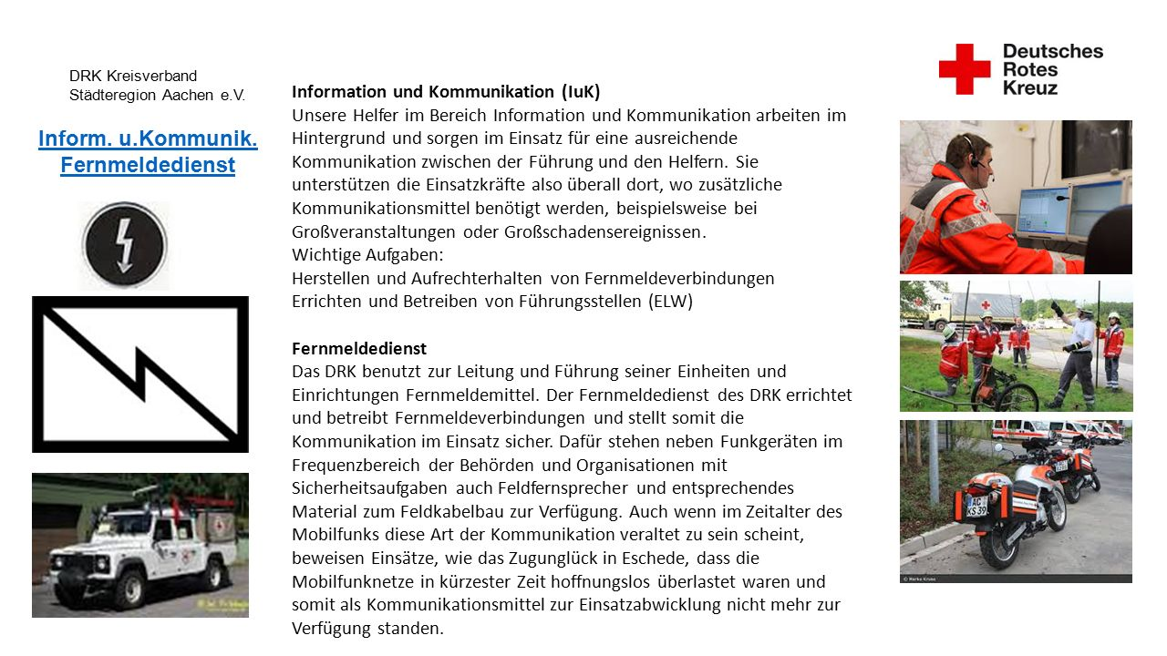 DRK Kreisverband Städteregion Aachen e.V. Inform.
