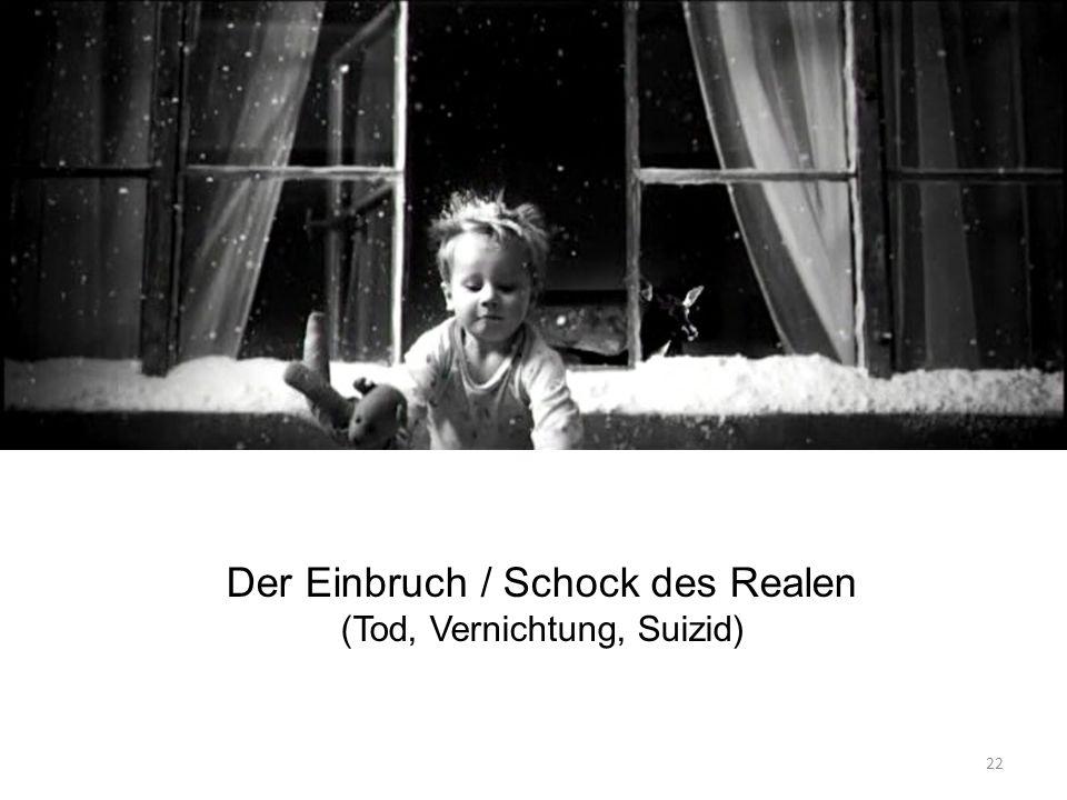 Der Einbruch / Schock des Realen (Tod, Vernichtung, Suizid) 22