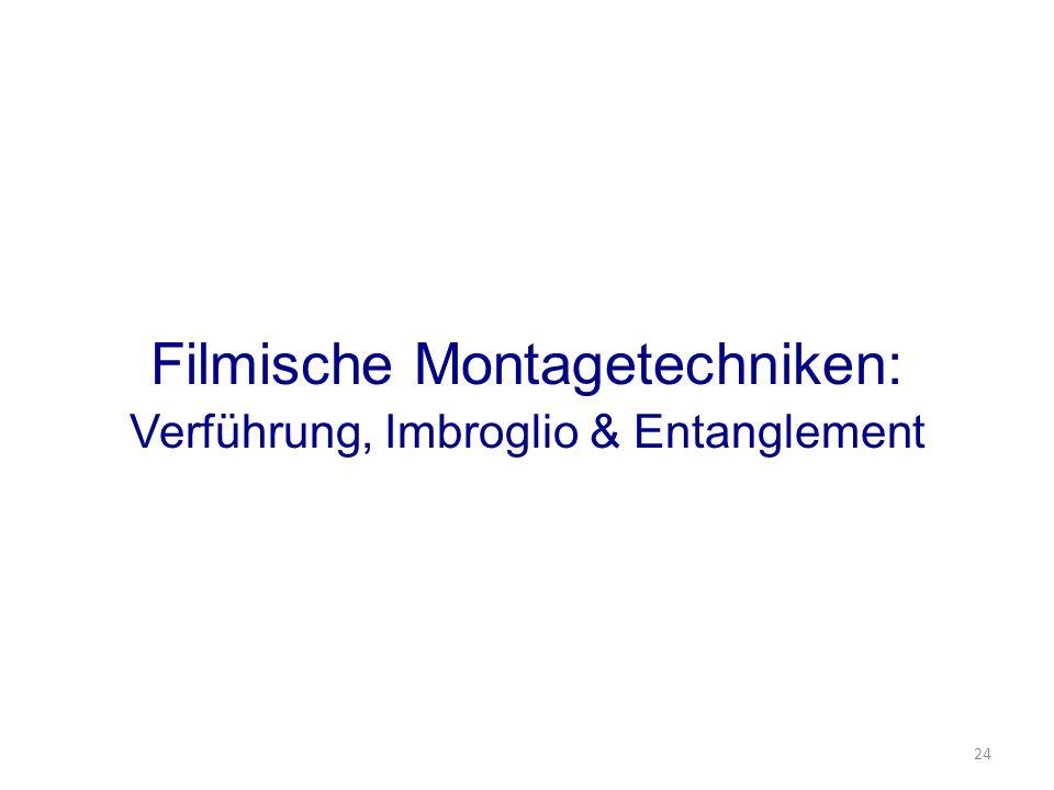 Filmische Montagetechniken: Verführung, Imbroglio & Entanglement 24