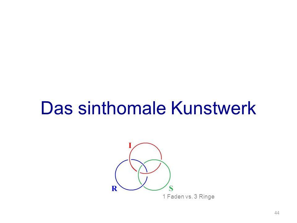 Das sinthomale Kunstwerk 44 1 Faden vs. 3 Ringe