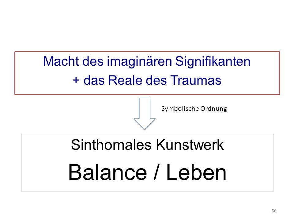 Macht des imaginären Signifikanten + das Reale des Traumas Sinthomales Kunstwerk Balance / Leben Symbolische Ordnung 56