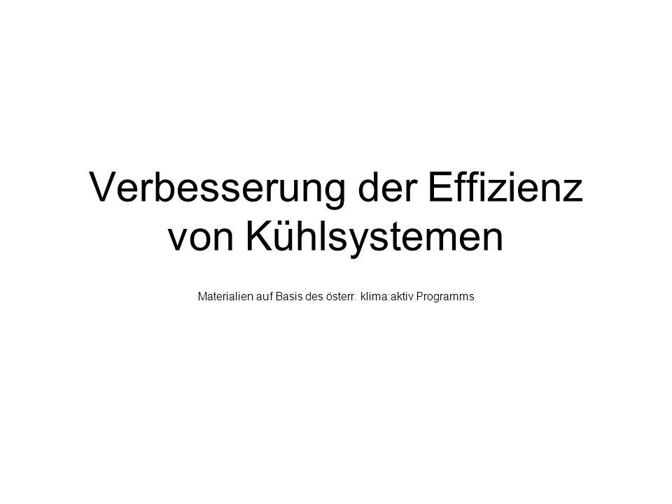 Verbesserung der Effizienz von Kühlsystemen Materialien auf Basis des österr. klima:aktiv Programms