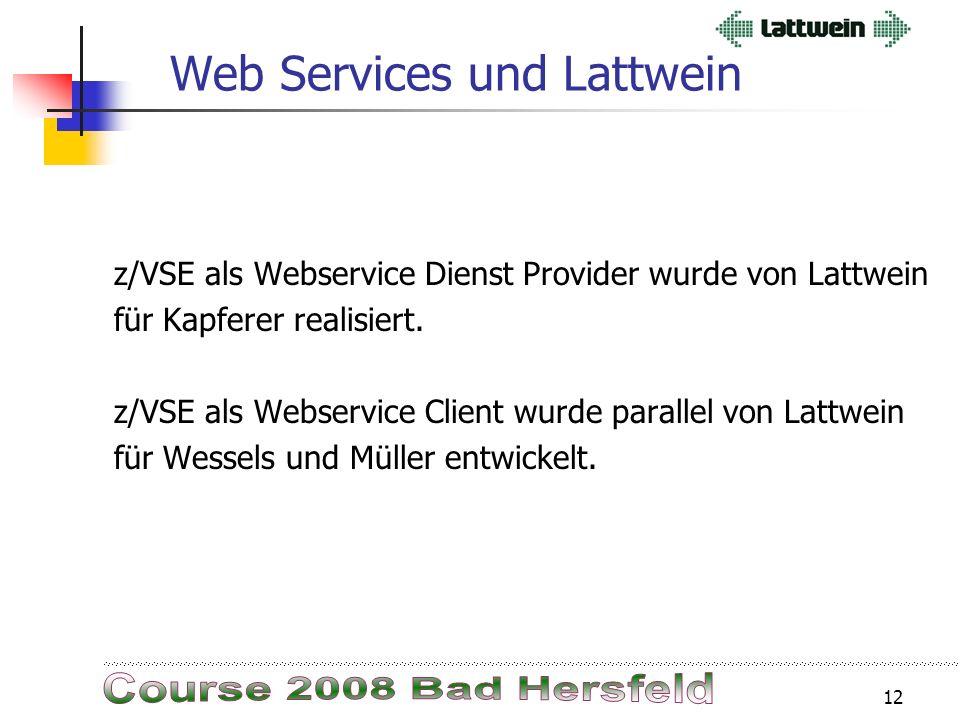 11 SOAP und CPG5 SOAP und WebServices können einfach mit CPGXML auf z/VSE zugreifen und bestehende Anwendungen implementieren. Der Host wird als Serve