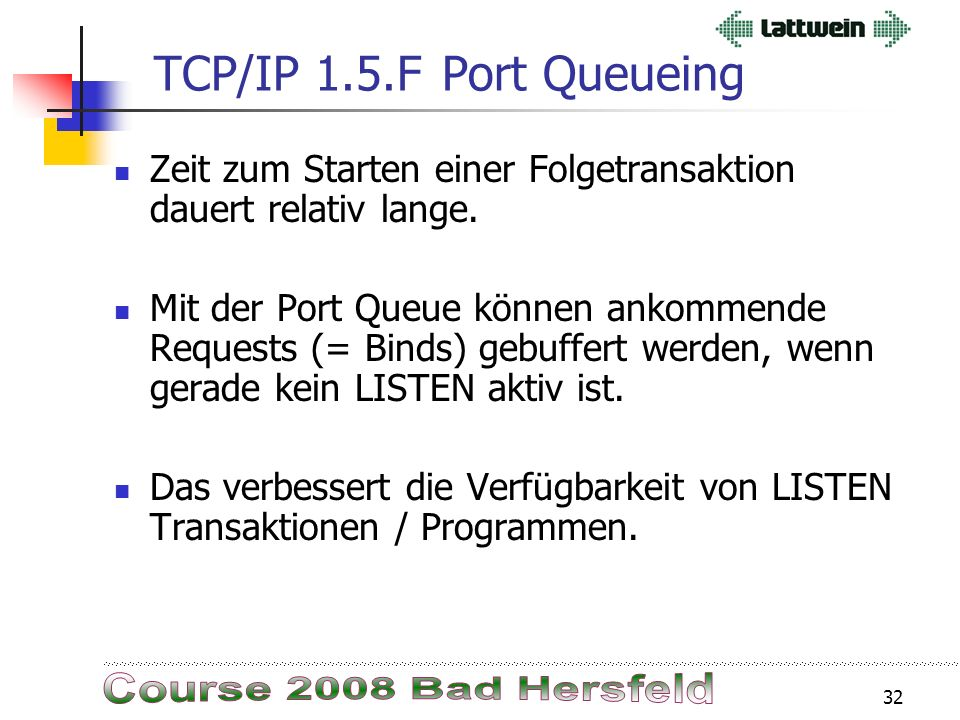 31 TCP/IP 1.5.FIPNETPRE Ist Source kompatibel.