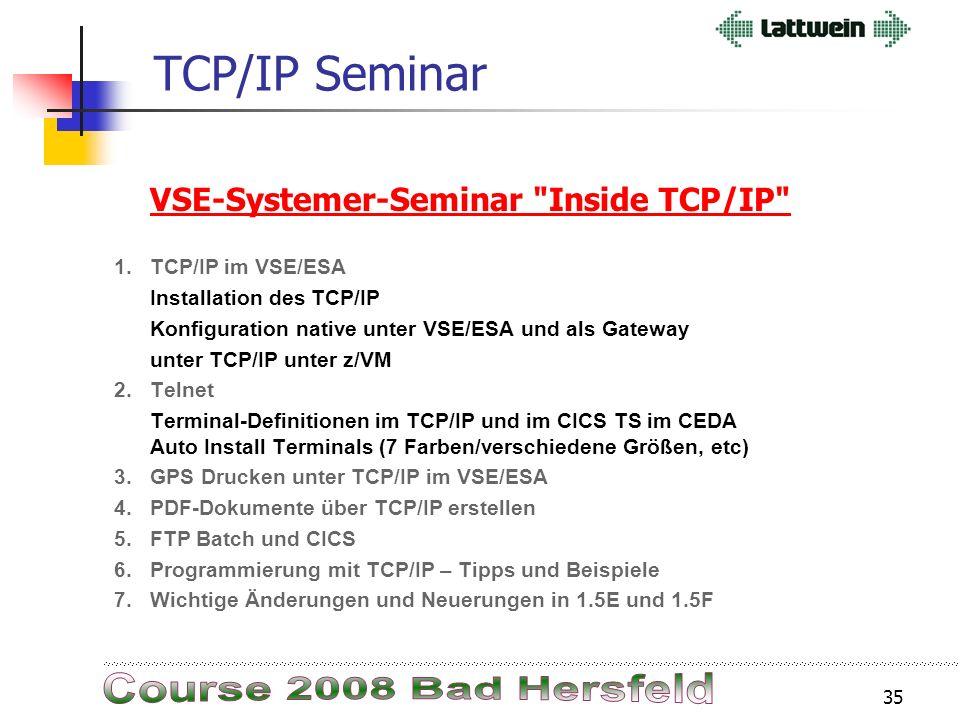 34 TCP/IP 1.5.FFILESYS Mit dem Befehl DEFINE FILESYS wurden alle Dateien im Standardlabel als DEFINE FILE für FTP definiert. Damit wurde z/VSE offen w