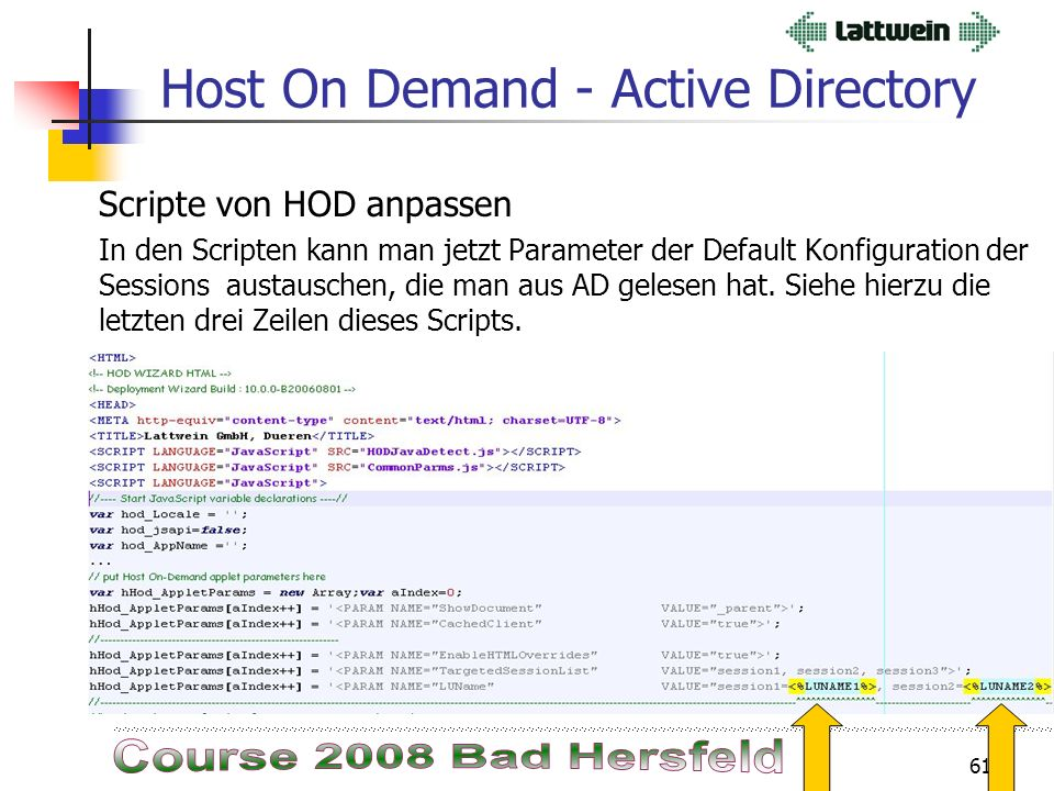 60 Active Directory HOD Session Einstellungen LWTNL203