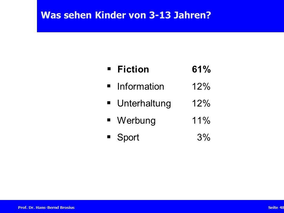 Prof.Dr. Hans-Bernd BrosiusSeite 48 Was sehen Kinder von 3-13 Jahren.