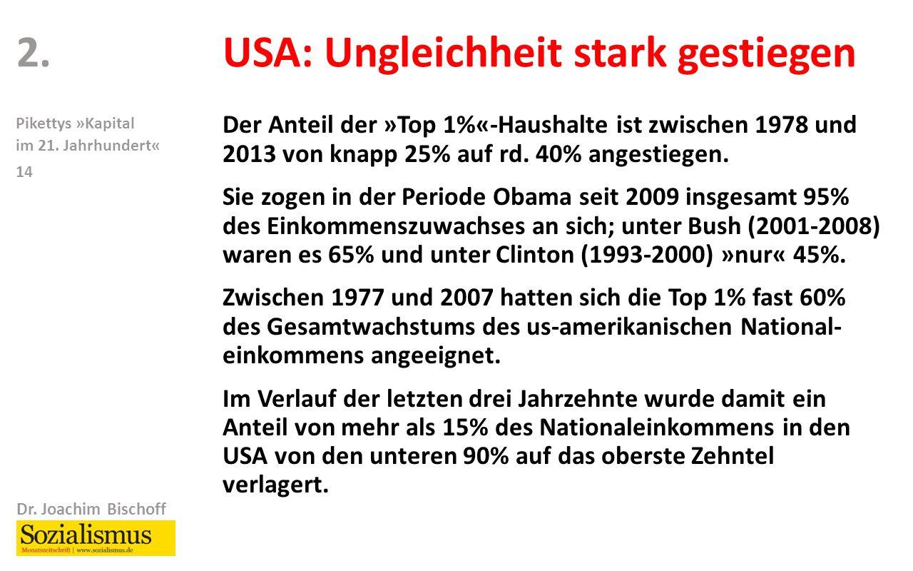 Dr. Joachim Bischoff Pikettys »Kapital im 21.