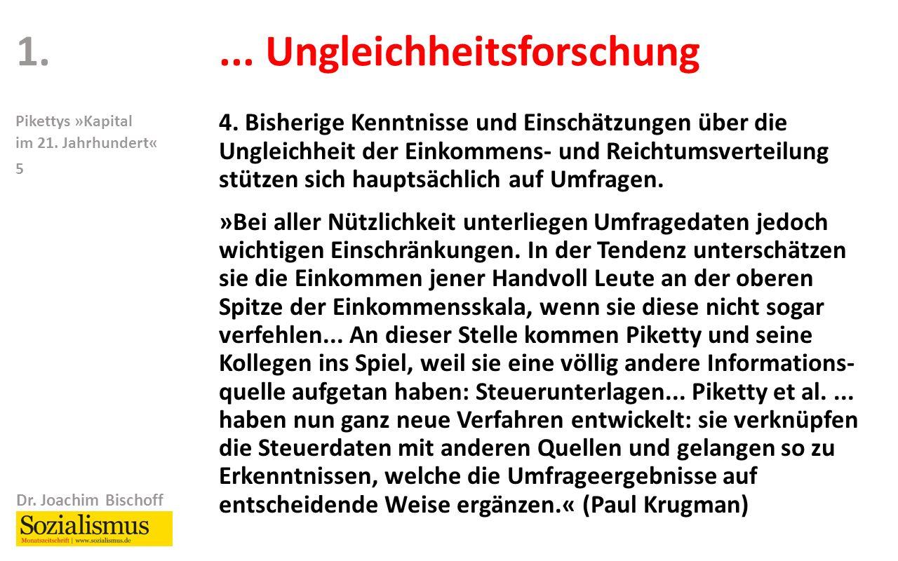 Dr. Joachim Bischoff Pikettys »Kapital im 21. Jahrhundert« 5...