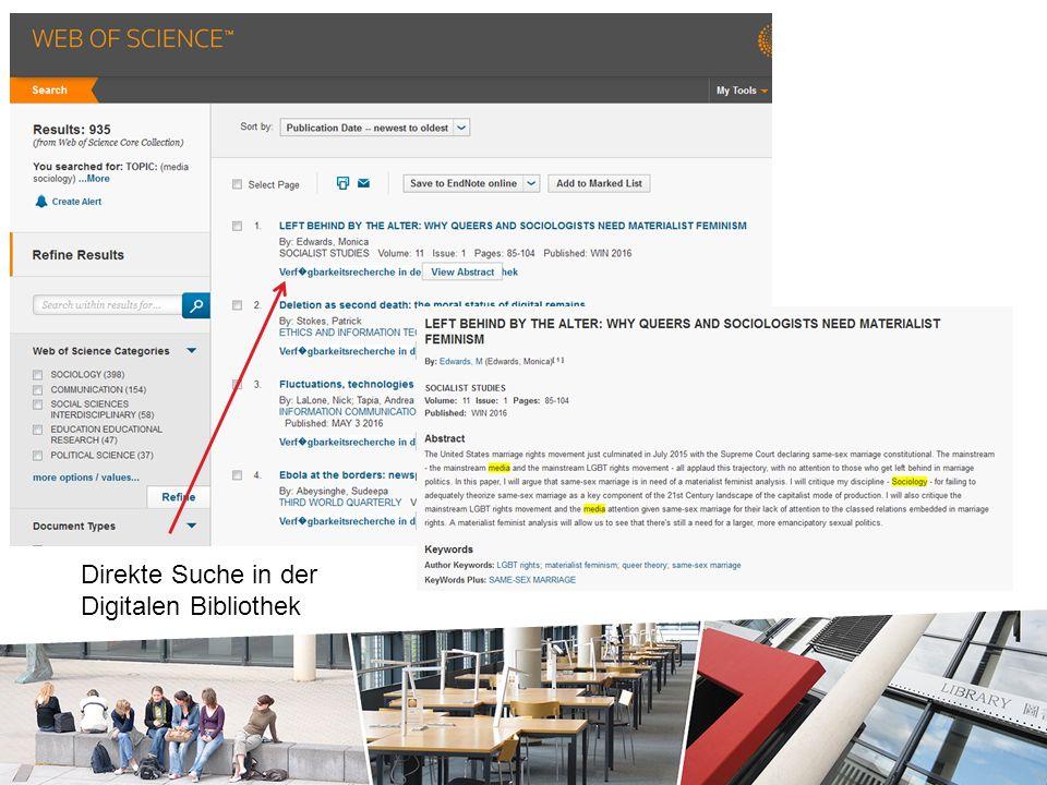 Direkte Suche in der Digitalen Bibliothek