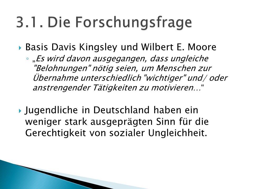 """ Basis Davis Kingsley und Wilbert E. Moore ◦ """"Es wird davon ausgegangen, dass ungleiche"""