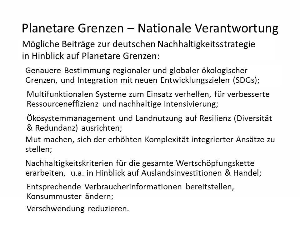 Planetare Grenzen – Nationale Verantwortung Mögliche Beiträge zur deutschen Nachhaltigkeitsstrategie in Hinblick auf Planetare Grenzen: Verschwendung