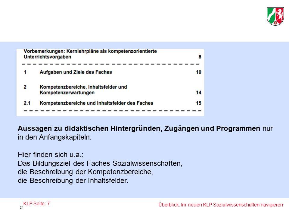 Aussagen zu didaktischen Hintergründen, Zugängen und Programmen nur in den Anfangskapiteln.