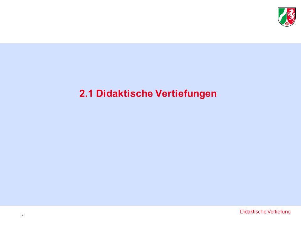 2.1 Didaktische Vertiefungen Didaktische Vertiefung 38