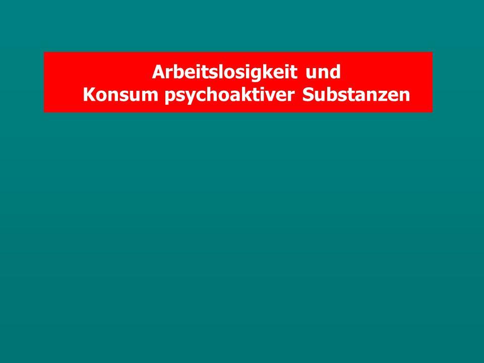 Arbeitslosigkeit und Konsum psychoaktiver Substanzen