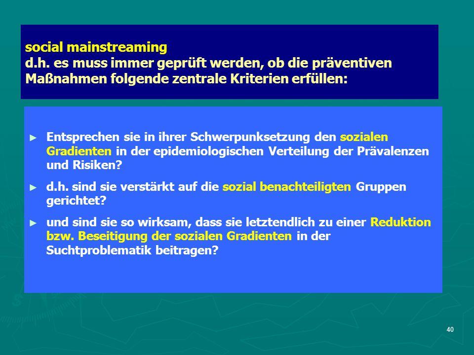 40 social mainstreaming d.h.