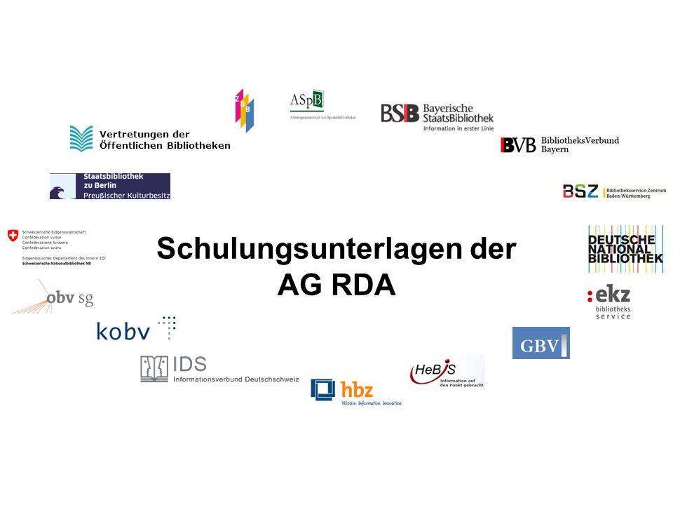 Personen und Familien RDA 9 und RDA 10 Barbara Wolf-Dahm AG RDA Schulungsunterlagen - Modul GND: Personen   2014 Modul GND