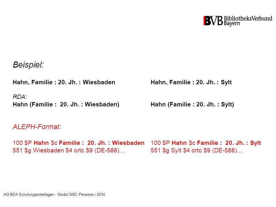 Beispiel: Hahn, Familie : 20.Jh. : WiesbadenHahn, Familie : 20.