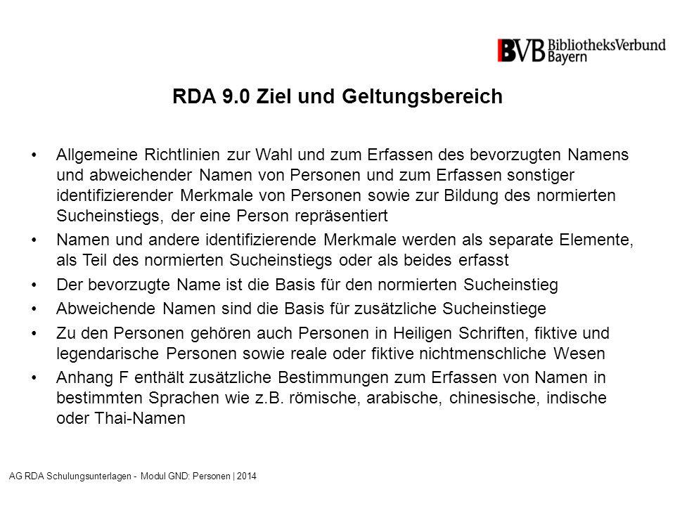 RDA 10.9 Familiengeschichte Angaben zur Geschichte der Familie werden bei Bedarf als separates Element (Freitext im Feld 678) erfasst Sie sind weder Kernelement noch Element des normierten Sucheinstiegs Siehe ERL zu RDA 10.9.1.3.