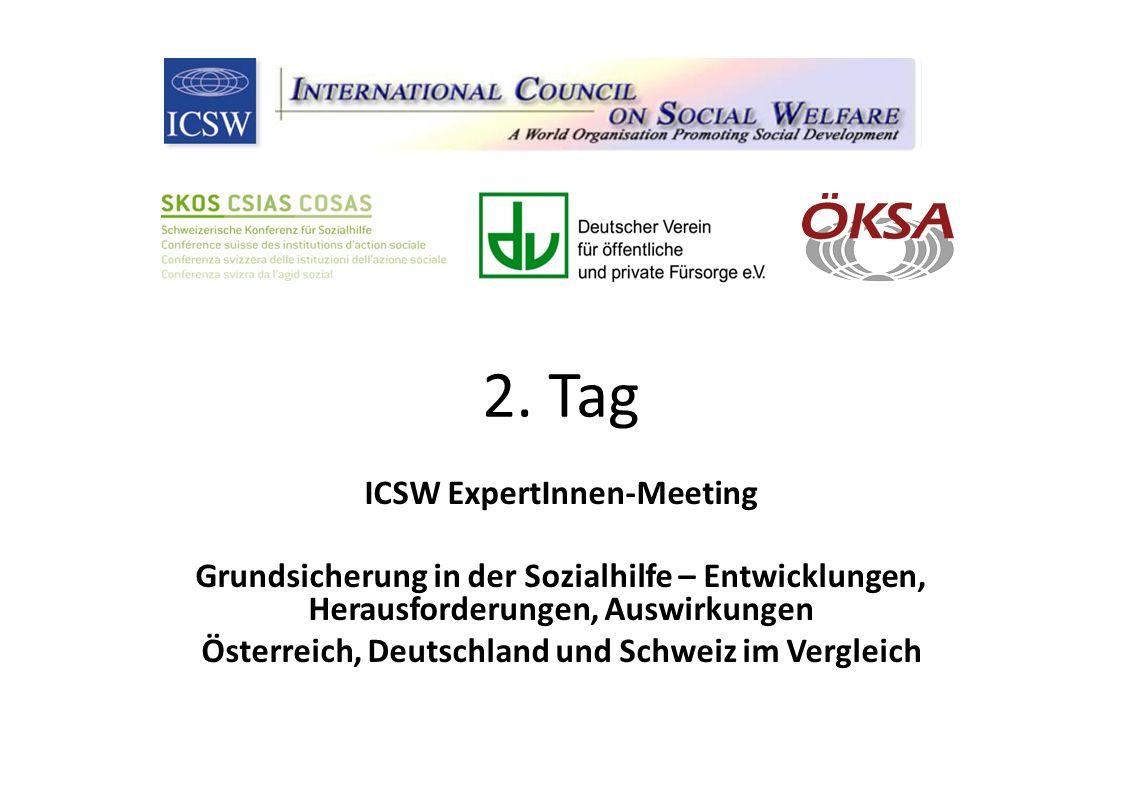 2. Tag ICSW ExpertInnen-Meeting Grundsicherung in der Sozialhilfe – Entwicklungen, Herausforderungen, Auswirkungen Österreich, Deutschland und Schweiz