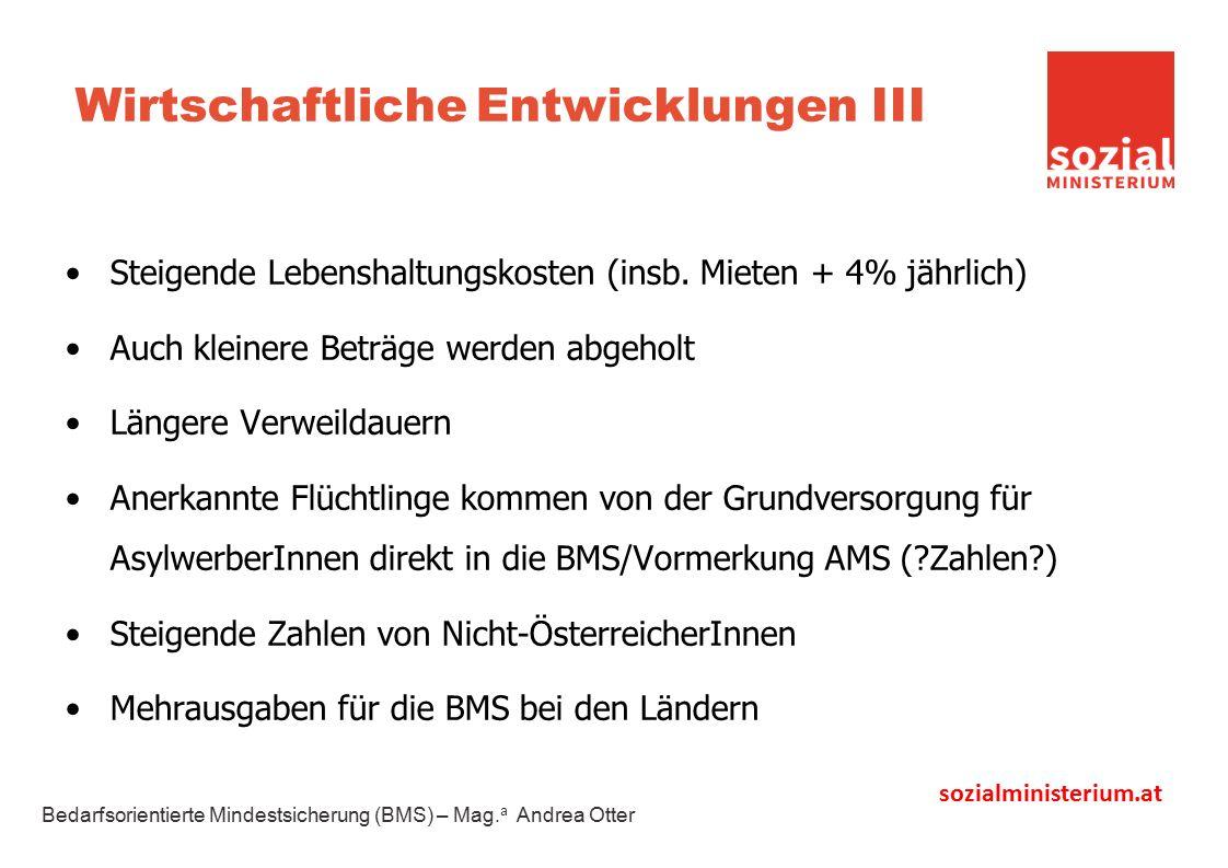 sozialministerium.at Wirtschaftliche Entwicklungen III Steigende Lebenshaltungskosten (insb.