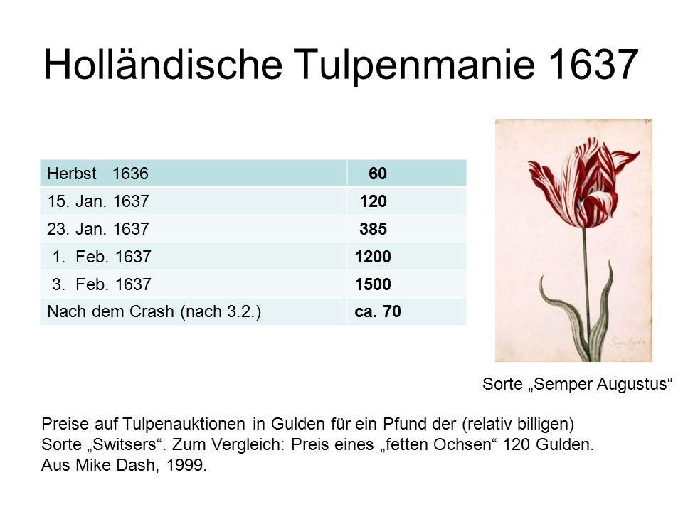 Holländische Tulpenmanie 1637 Herbst 1636 60 15. Jan.