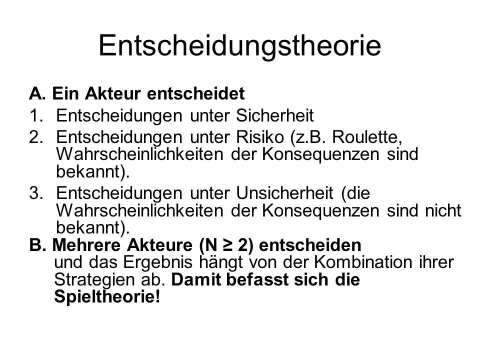 Entscheidungstheorie A.
