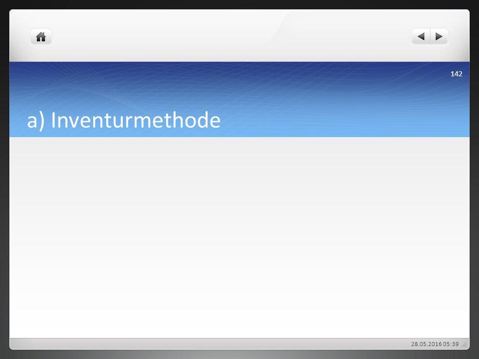 a) Inventurmethode 28.05.2016 05:43 142